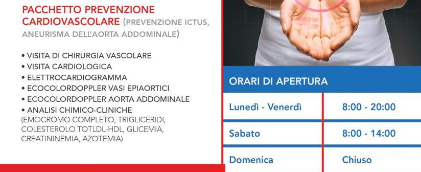 PACCHETTO PREVENZIONE CARDIOVASCOLARE (PREVENZIONE ICTUS, ANEURISMA DELL'AORTA ADDOMINALE)